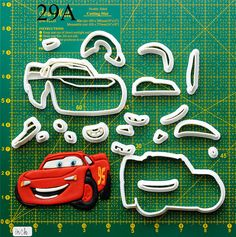 Disney cars Cookie Cutter disney cars birthday invitation,disney cars birthday party,disney cars birthday decoration