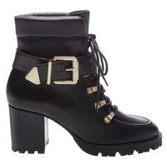 TRACTOR BOOT BLOCK HEEL BLACK Black Heels, Black Boots, High Heels, Tractors, Booty, Ankle, 1, Shoes, Girls
