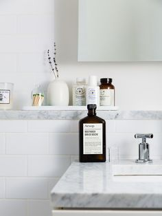 Bathroom inspiration & Aesop mouth wash | Photo via A Standard of Living with thanks | via Style and Create