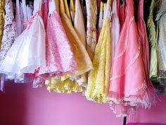 Colorful tea dresses