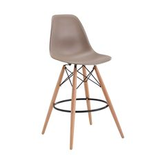 Our popular Eiffel chair redesigned as a bar stool. A durable shell, moulded to fit the contours of the body for exceptional comfort, supported by stylish beech wood legs adds a contemporary edge to your breakfast bar.