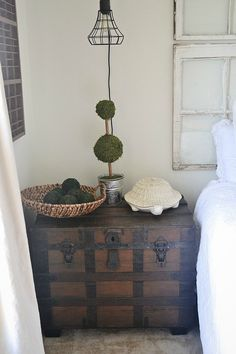 old trunk as side table