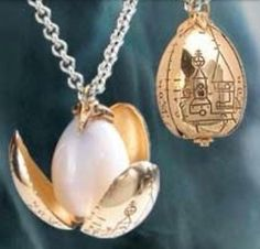 Golden Egg Necklaces
