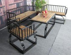 Американский кантри мебель, кованого железа дерева журнальный столик Ikea стул лофт стиль ретро свободного покроя небольшой деревянный стол