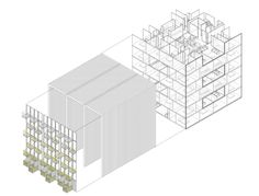 Housing Building Axonometry Building A House, Architecture, Projects, Diagram, Drawings, Design, Architectural Firm, Architects, Arquitetura