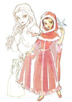 Anime and disney. Deco Disney, Arte Disney, Disney Fan Art, Princesa Disney Bella, Disney Princess Belle, Film Disney, Disney Movies, Chibi Kawaii, Belle Beauty And The Beast