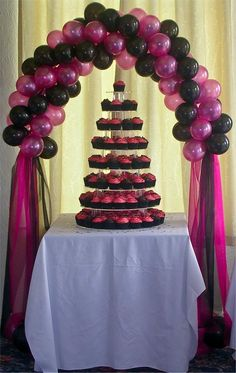 wedding arches with balloon | Wedding Balloon Arch and Party Arches | Good idea!