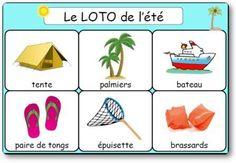 Le loto de l'été et des vacances à imprimer, jeu de loto de l'été pour s'amuser…