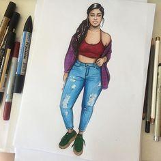 Jordyn ✨ @jordynwoods (Please tag her ❤️) #sketch #fashionsketch #fashiondrawing #fashionillustration #drawing #illustration #art #artist #fashionable #nataliamadej #jordynwoods