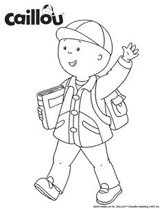 Ready To Learn Caillou Coloring Sheet 3