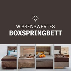 Jetzt Boxspringbett entdecken! Home Decor, Interesting Facts, Projects, Tips, Decoration Home, Room Decor, Home Interior Design, Home Decoration, Interior Design
