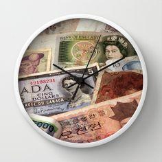 Money Wall Clock by Claude Gariepy - $30.00