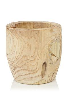 Medium Blond Wood Pot