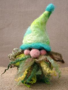 Needle-felted gnome