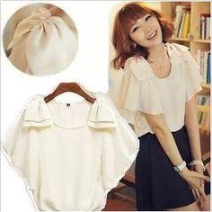 2104 Shirt Hot Sale Summer Ladies' Casual Chiffon Blouse Women European Style new 2014 US $6.37