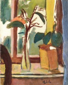 "blastedheath: ""Béla Czóbel (Hungarian, Still Life by the Window, Oil on canvas, x 42 cm. Paintings Famous, Famous Artists, Still Life Flowers, Fauvism, Window View, Doodle Sketch, Cool Artwork, Flower Art, Oil On Canvas"