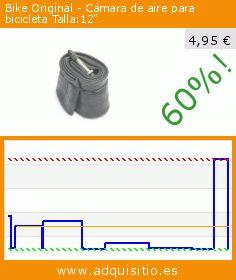 """Bike Original - Cámara de aire para bicicleta Talla:12"""" (Deportes). Baja 60%! Precio actual 4,95 €, el precio anterior fue de 12,44 €. http://www.adquisitio.es/bike-original/bicicleta-original-inner"""