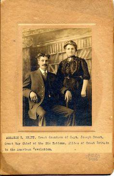 Abraham Brant, great grandson of Mohawk and Revolutionary War general Joseph Brant.
