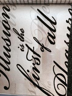 Tiza Couture estilo café caligrafía Colección Lote De 3 nuevo Plantilla de transferencia