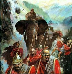 """Hannible's army crossing the Alps"" - Imagen"