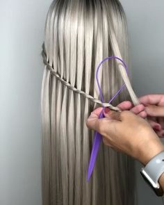 Loop➡️Swoop➡️Pull ✔️ Using a stitching tool to pull hair thru each braid section. Amazing technique from Wig:… Elegant Hairstyles, Cute Hairstyles, Braided Hairstyles, Beauty Makeup, Hair Beauty, Toddler Hair, Hair Tools, Wigs, Short Hair Styles