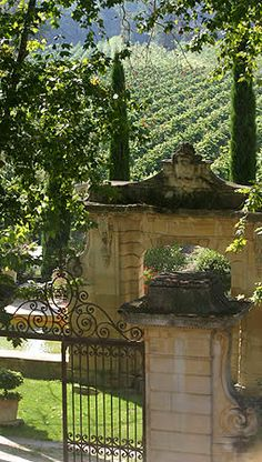 *Bed and Breakfast - Chateau Talaud, Avignon, France is surrounded by it's own vineyard producing a red AOC Cotes du Ventoux.  I'll stay there.  ( :