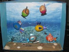 Easy underwater themed decorated eggs