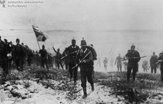 Young German Infantrymen March Singing into the Battle of Langemarck on November 10, 1914 (Undated Painting)