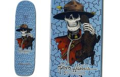 Powell Peralta 1986 Kevin Harris Pro Model.  Designed by V. Courtlandt Johnson