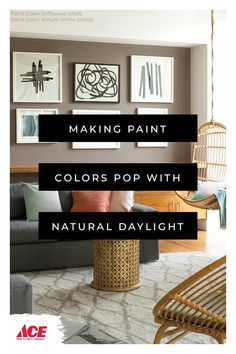 Natural daylight shows Benjamin Moore paint in its truest color. Best Paint Colors, Wall Paint Colors, Interior Paint Colors, Painting Studio, Painting Tips, House Painting, Modern Color Schemes, Modern Colors, Benjamin Moore Paint