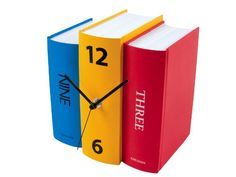 Karlsson Table Clock, Colorful Faux Books Present Time http://www.amazon.com/dp/B000LRLEES/ref=cm_sw_r_pi_dp_tCzevb1NZ79QV
