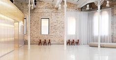 Sydney Industrial Wedding Venues Located next to the Sydney Theatre in Walsh Bay. Party Venues, Event Venues, Our Wedding, Dream Wedding, Wedding Dreams, Wedding Stuff, Wedding Venues Sydney, White Beams, Industrial Wedding Venues