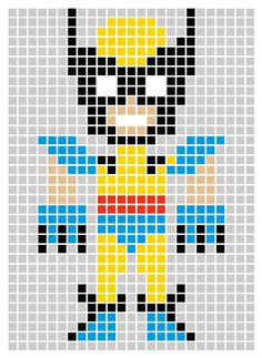25 best pixel art images on pinterest hama beads beading patterns