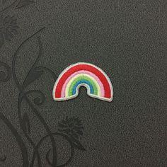 Rainbow Patch - Rainbow Embroidered Iron on Patch / Rainbow Iron on Applique / Rainbow Sew on patch