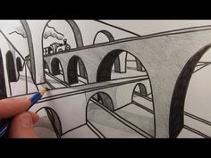 How to Draw a Bridge in Two Point Perspective: Narrated - YouTube