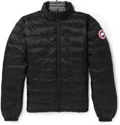 Canada Goose' Lodge Down Hooded Jacket - Men's Black/Graphte, S