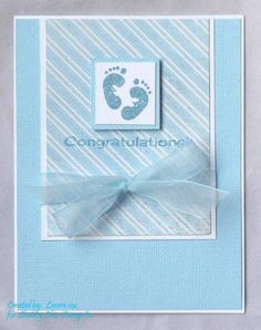 Baby Cards Baby Congrats by – Cards and Paper Crafts at Splitcoaststampers Tarjetas Diy, New Baby Cards, Baby Shower Cards, Marianne Design, Baby Kind, Kids Cards, Cute Cards, Creative Cards, Greeting Cards Handmade