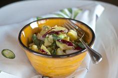 Potato, Radicchio and Green Bean Salad with Fresh Peas and Sherry Vinaigrette