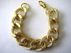 Celebrity Inspired Textured Gold Chunky Curb Chain..The Basic...Stack 'em Up by CelebrityTrendz, $10.00