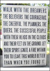 As stated near the Appalachian Trail...words we should all live by.