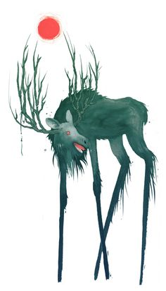Finnish Folklore Illustrations by Jenni Saarenkyla, via Behance