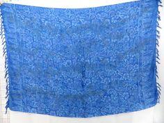 blue floral prints beach coverup sexy kanga $4.95 - http://www.wholesalesarong.com/blog/blue-floral-prints-beach-coverup-sexy-kanga-4-95/