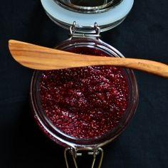 Easy, naturally-sweetened & healthy raspberry rose chia seed jam