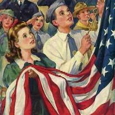 Raising Old Glory by Norman Rockwell (American) oil on canvas, illustration for American Legion Magazine, genre: Realism, Americana Norman, Vintage Art, Canvas Prints, Illustration, Artist, Norman Rockwell Art, Norman Rockwell, Rockwell, American Artists