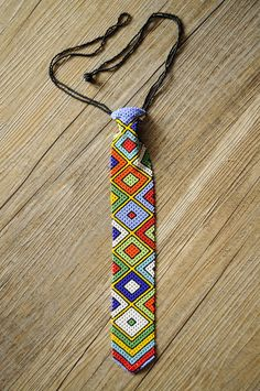 Beaded African Neck tieTraditional South African by akwaabaAfrica