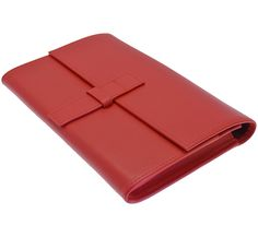 Ettinger London Luxury Leather Ettinger Red and Slate Blackberry Playbook Leather Clutch