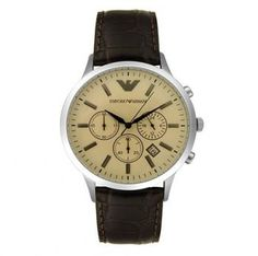 1fba01f3083b Click Image Above To Purchase  Emporio Armani Men s Chronograph Brown Leather  Watch