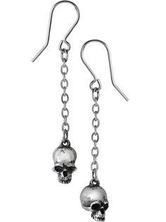 """""""Deadskulls"""" Earrings by Alchemy of England"""