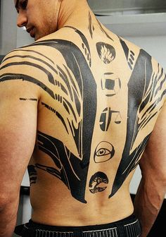theo james four back tattoo