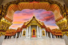 Marble Temple of Bangkok Wall Art on Canvas Home Loft Concept Size: 80 cm H x 120 cm W Visit Thailand, Bangkok Thailand, Thailand Tourism, Bangkok Travel, Chiang Mai, Lonely Planet, Best Places To Live, Places To Visit, Jigsaw